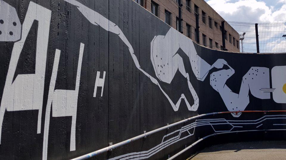 Velkoplošná malba vznikla v rámci programu Umění pro město