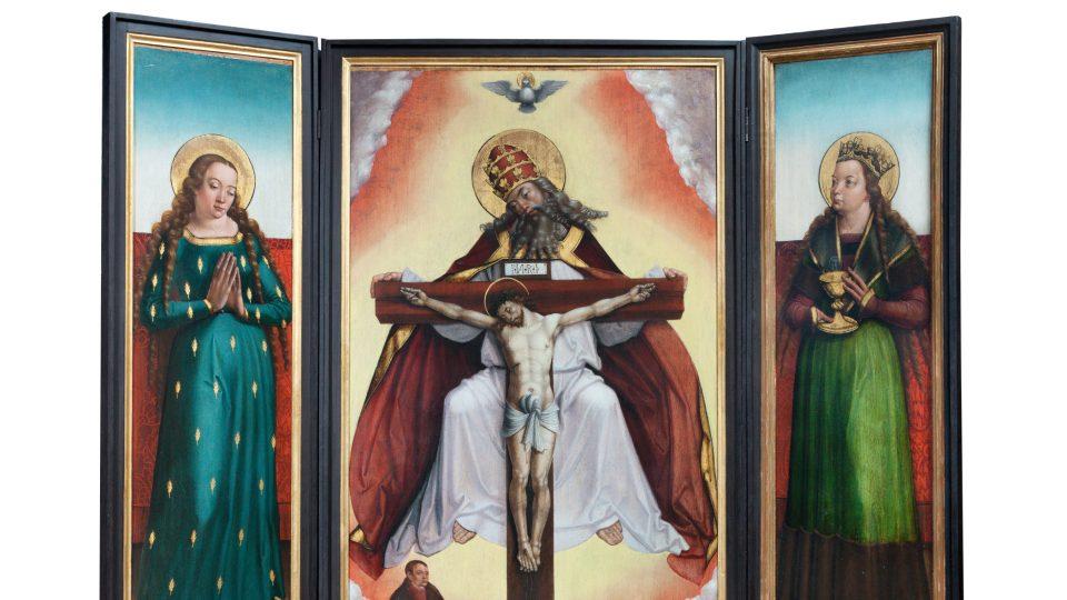 Oltář s Nejsvětější Trojící, před 1510, Mistr Litoměřického oltáře