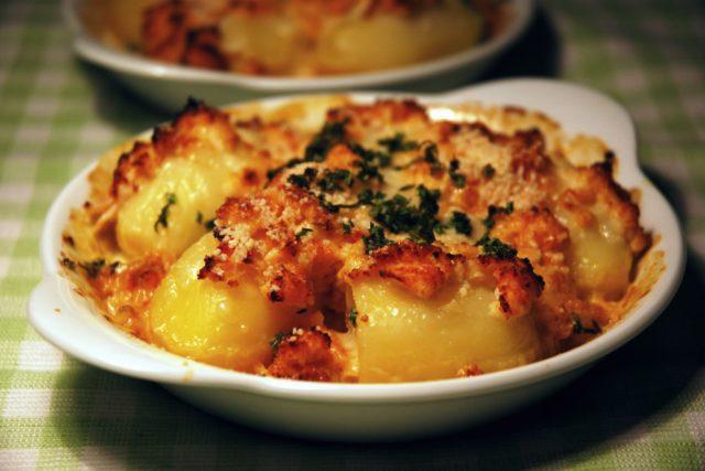 Francouzské zapečené brambory