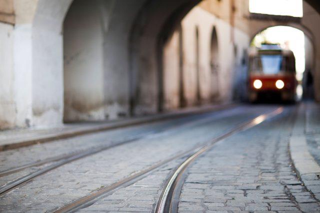 Tramvajová trať v Praze