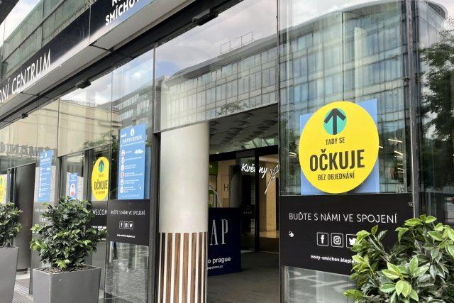 V obchodním centru na Andělu se otevřelo nové očkovací místo bez registrace
